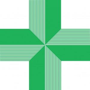 Pharmacy Green Cross50mm