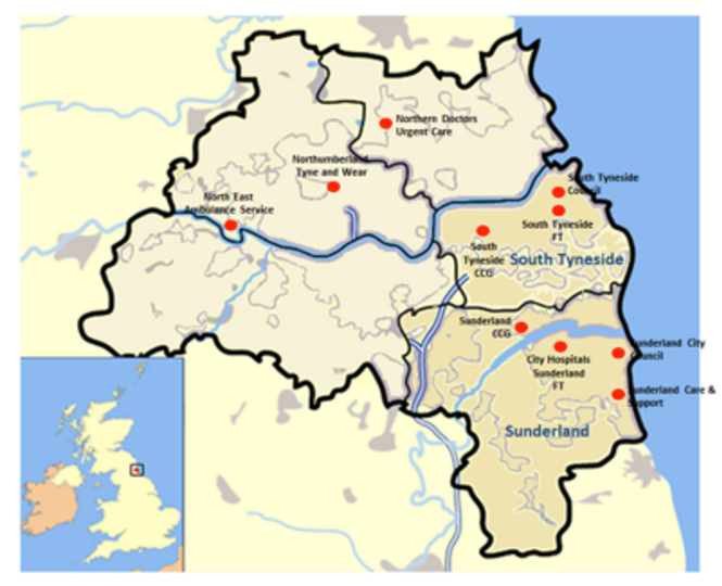 Sunderland CCG area map