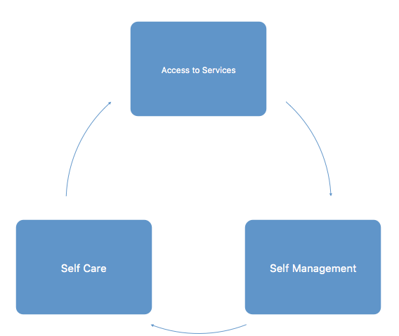 Technology Enabled Care Services (TECS) diagram
